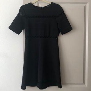 Topshop Short Sleeve Black Dress